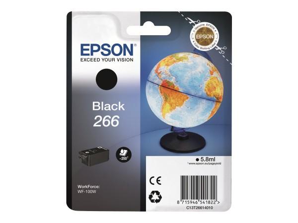 EPSON 266 Tinte schwarz Standardkapazität 250 Seiten 1er-Pack