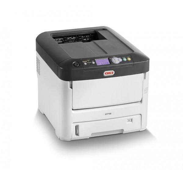 OKI C712dn Color Drucker A4 duplex netzwerkfähig rechts