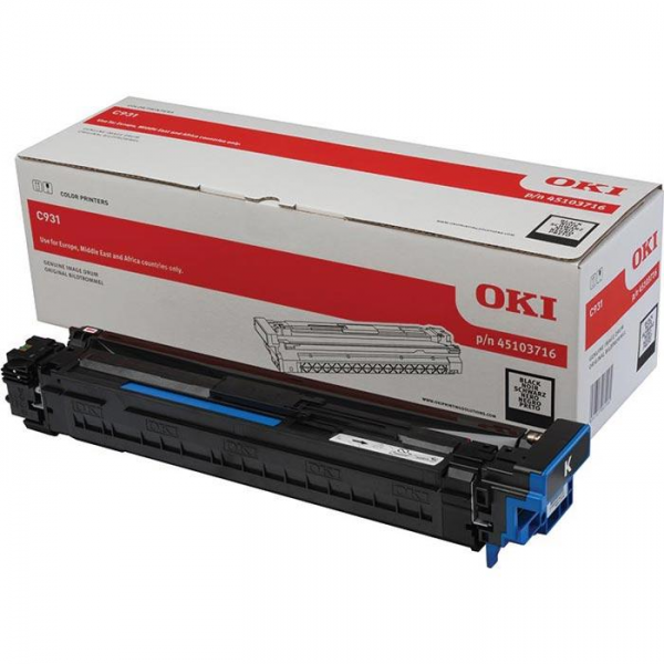 OKI Bildtrommel Schwarz C911DN C931DN Black 45103716 Original