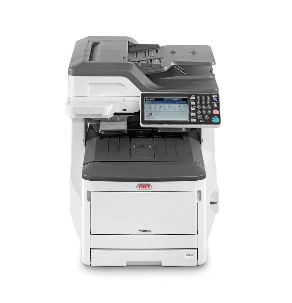 oki mc853dn mfp drucker duplex a3 a4 print scan copy fax drucker kopierer. Black Bedroom Furniture Sets. Home Design Ideas