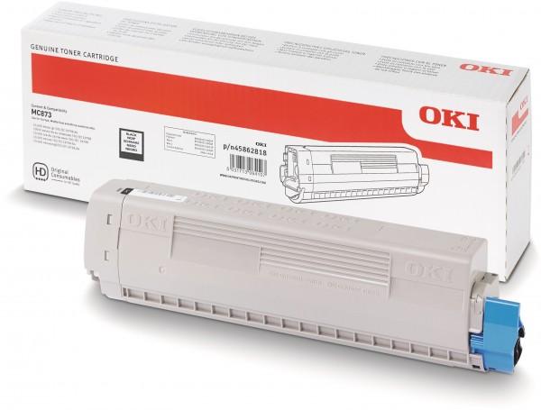 OKI MC873 Original Toner Schwarz 45862818