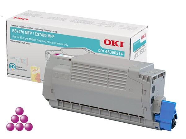 OKI Toner magenta für 11.500 Seiten ES7460 ES7470 ES7480 45396214