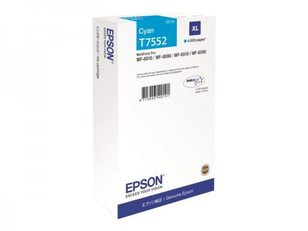 EPSON Tintenpatrone T7552 Cyan XL C13T755240