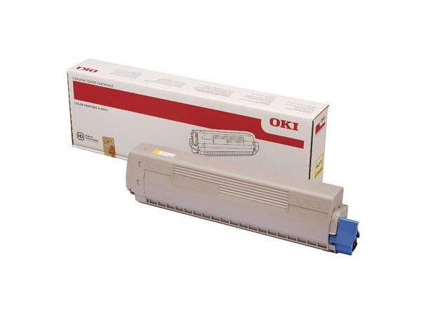 OKI MC873 Original Toner Gelb Yellow 45862814