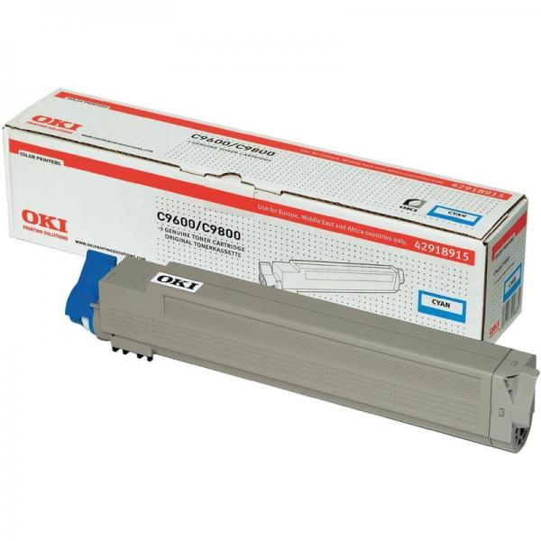 OKI Toner Cyan C9600 C9650 C9800 C9850 MFP 42918915 Original