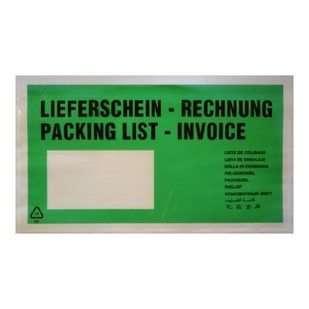 1000 Lieferscheintaschen DIN lang (grün)