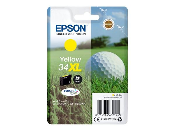 EPSON Singlepack 34XL Gelb DURABrite Tinte Ultra (XL) C13T34744010