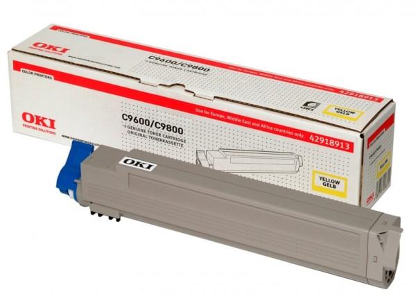OKI Toner Yellow C9600 C9650 C9800 C9850 MFP 42918913 Original