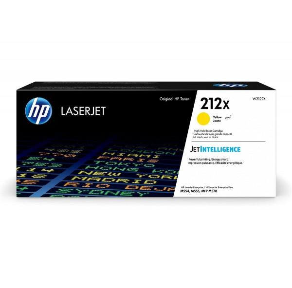 HP 212X Toner Yellow W2122X 10.000 Seiten Color LaserJet Enterprise M554dn M555dn M555x