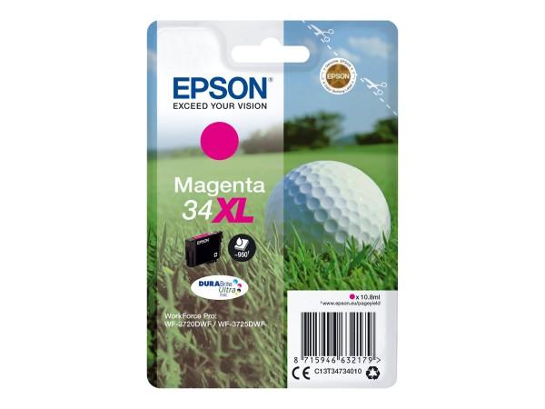 EPSON Singlepack 34XL Magenta DURABrite Tinte Ultra (XL) C13T34734010