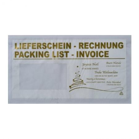 1000 Lieferscheintaschen DIN lang (Weihnachten)