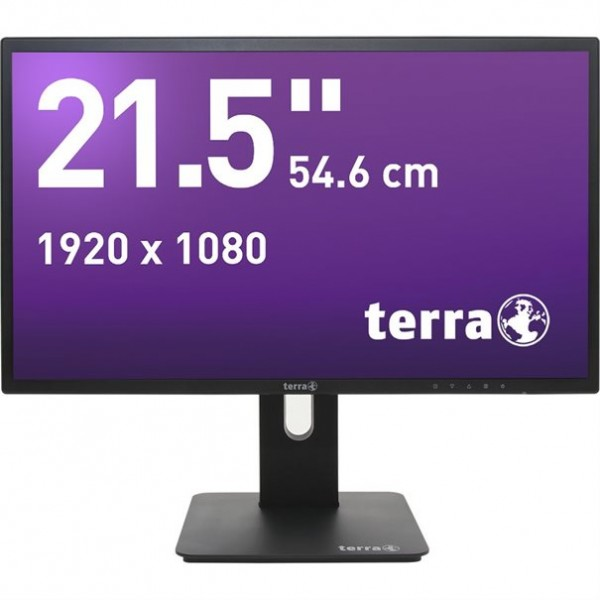 TERRA LED 2256W PV V2 schwarz DP, HDMI GREENLINE PLUS 21.5 Zoll