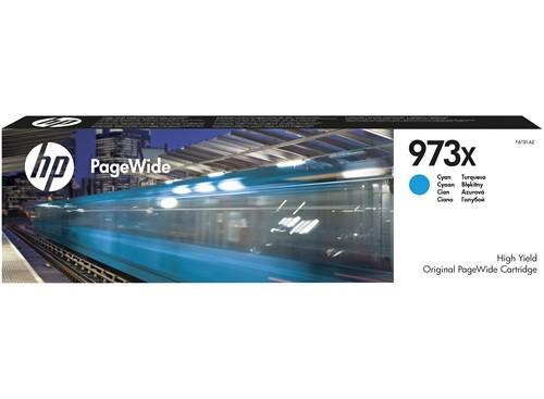 HP 973X Cyan Original PageWide Tintenpatrone mit hoher Reichweite F6T81AE