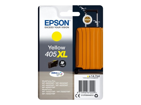 Epson Tintenpatrone 405XL yellow C13T05H44010 für WorkForce Pro WF-C3820DWF WF-C3825DWF WF-C4820DWF