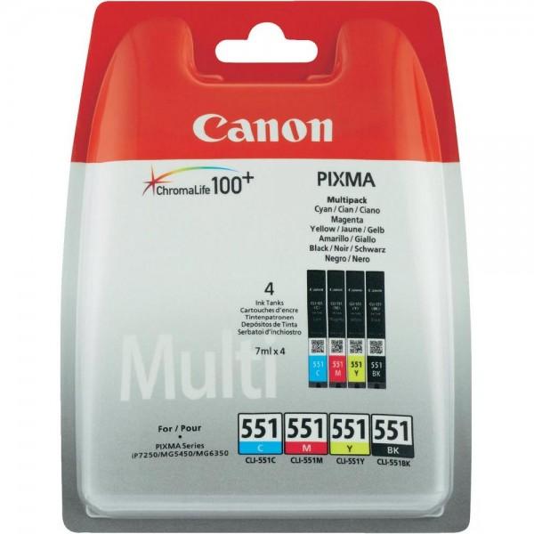 6509B009 Canon Tinte CLI-551 Original Kombi-Pack