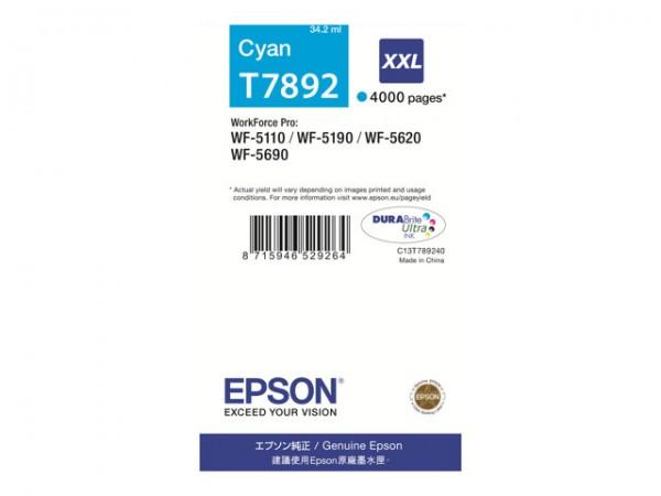 EPSON T7892 Tinte cyan XXL WF-5690dwf