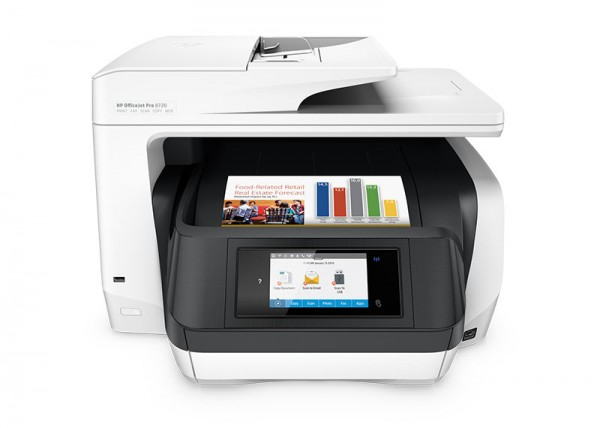HP OfficeJet Pro 8730 All-in-One Printer Tintenstrahl Front
