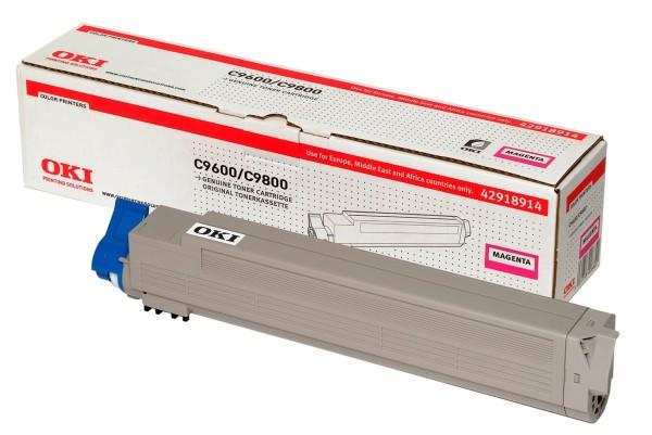 OKI Toner Magenta C9600 C9650 C9800 C9850 MFP 42918914 Original