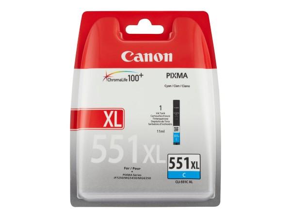 Canon CLI-551XLC Tinte cyan hohe Kapazität 700 Seiten 1er-Pack XL 6444B001