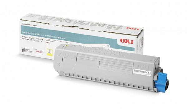 OKI 46861325 Original Toner Gelb für 10.000 Seiten OKI ES8434DN