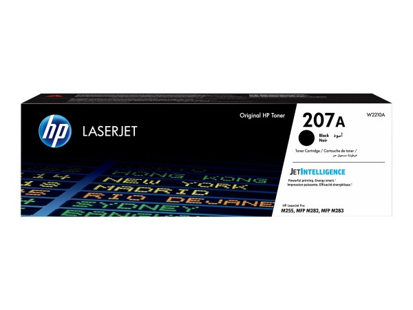 HP 207A Black LaserJet Toner Cartridge W2210A