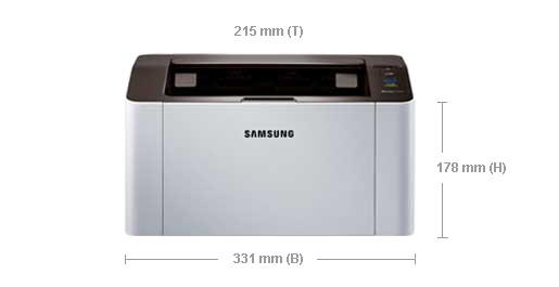 Samsung Xpress SL-M2026 Monolaser-Drucker Abmessungen