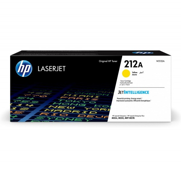 HP 212A Toner Yellow W2122A 4.500 Seiten Color LaserJet Enterprise M554dn M555dn M555x