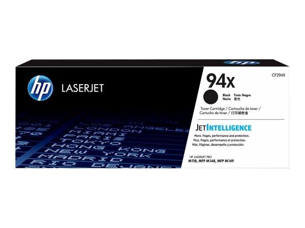 HP 94X Toner black CF294X für LaserJet Pro M118dw M148dw M148fdw