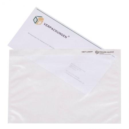 Papier-Lieferscheintaschen DIN C5 VPE 1000 (neutral)