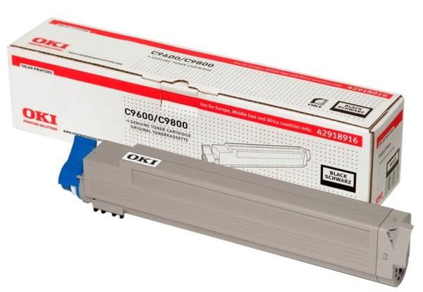 OKI Toner Schwarz C9600 C9650 C9800 C9850 MFP 42918916 Original