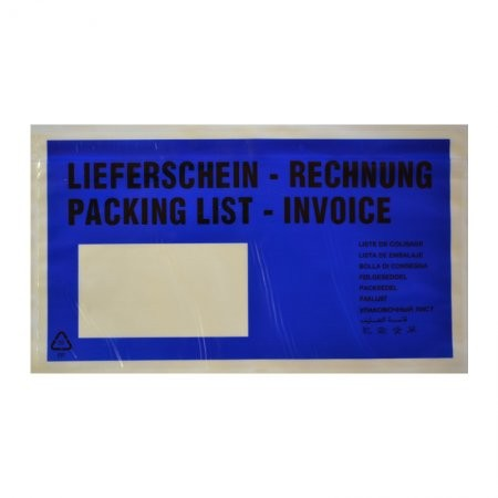 1000 Lieferscheintaschen DIN lang (blau)