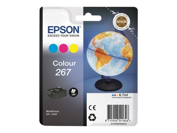 EPSON 267 Tinte cyan, magenta und gelb Standardkapazität 200 Seiten C13T26704010
