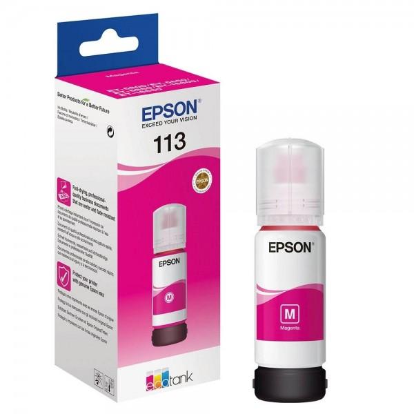 EPSON 113 ECOTANK TINTE MAGENTA FÜR ET-5800 ET-5850 ET-5880 ET-16600 ET-16650 C13T06B340